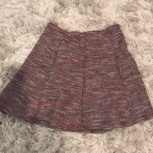 LOFT A-line style skirt in maroon/purple